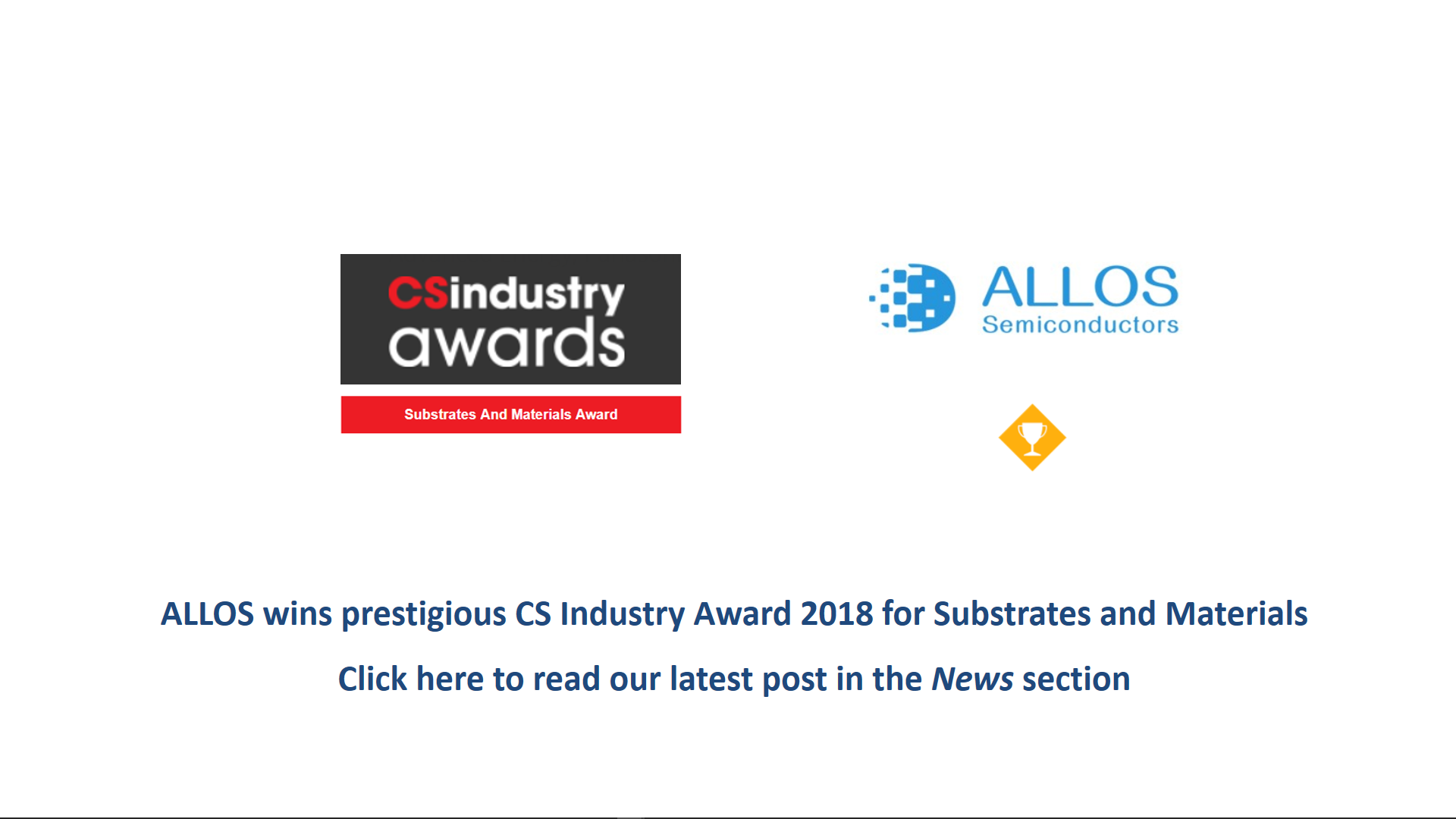 ALLOS wins CS Industry Award
